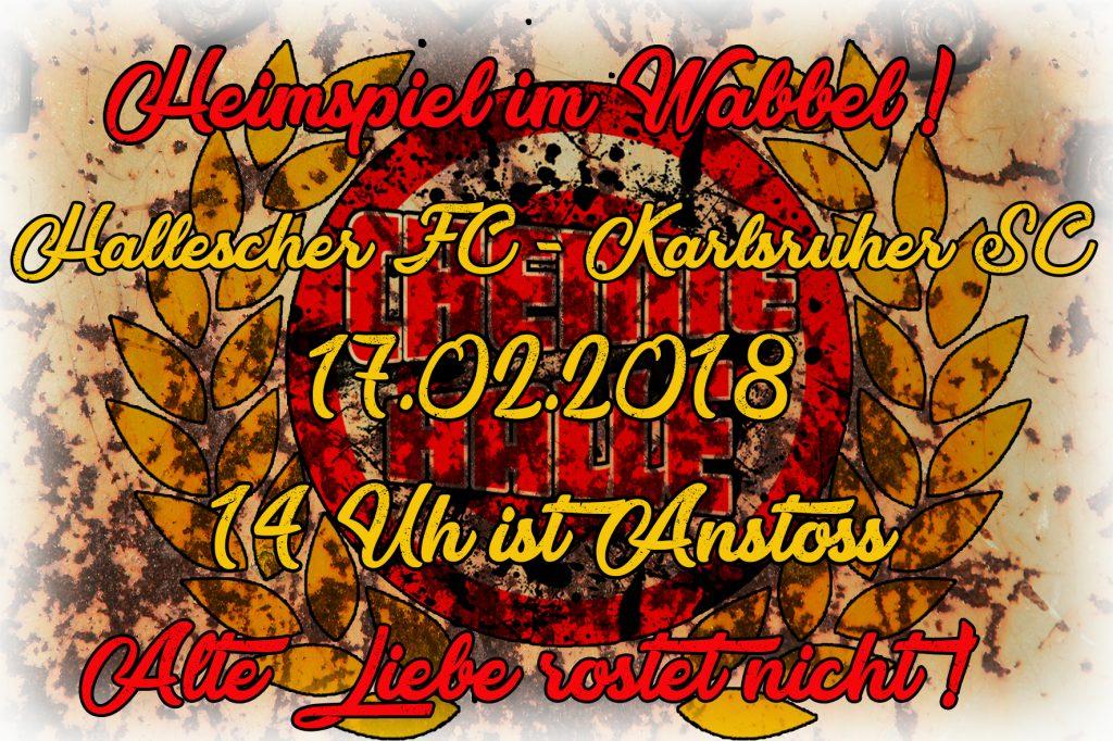 25. Spieltag; Hallescher FC – Karlsruher SC